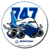 Boeing 747 Pudgy Sticker (new)